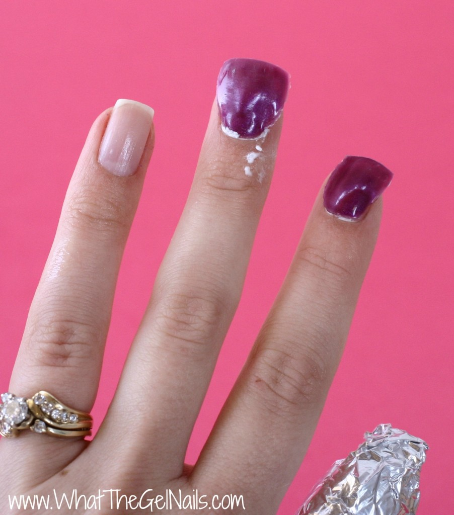 How to Take Off Gel Polish at Home. Remove foil wraps.