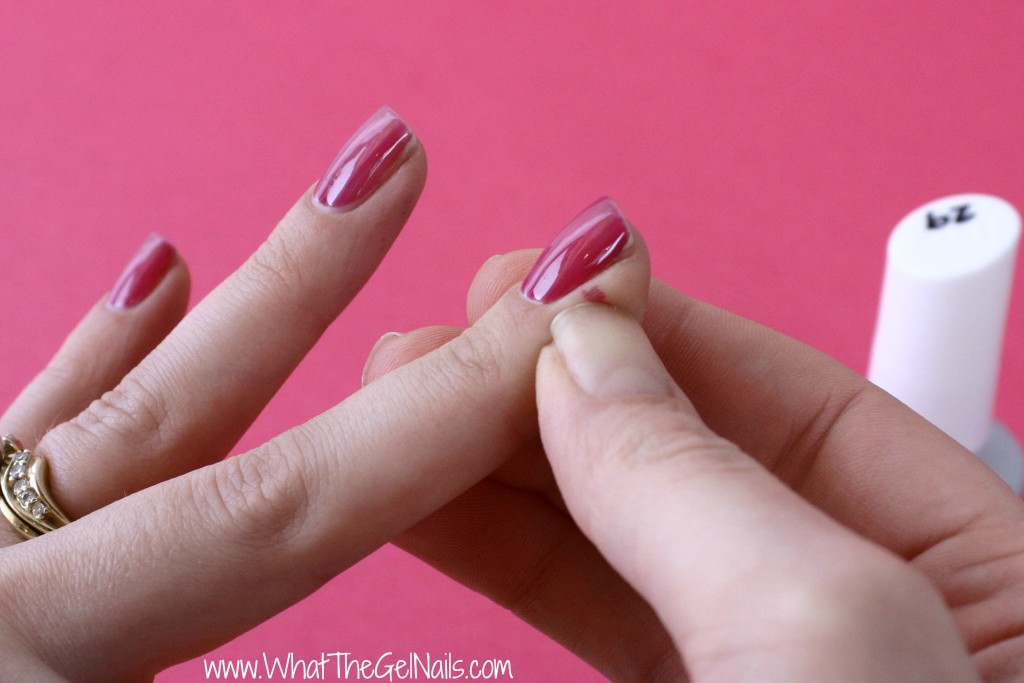 Tips and Tricks for Gel Polish Beginners. Remove extra gel polish before curing.