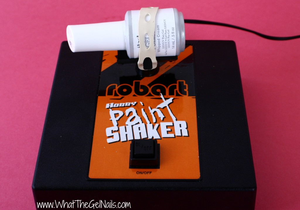 Use the Robart paint shaker for gel polish.