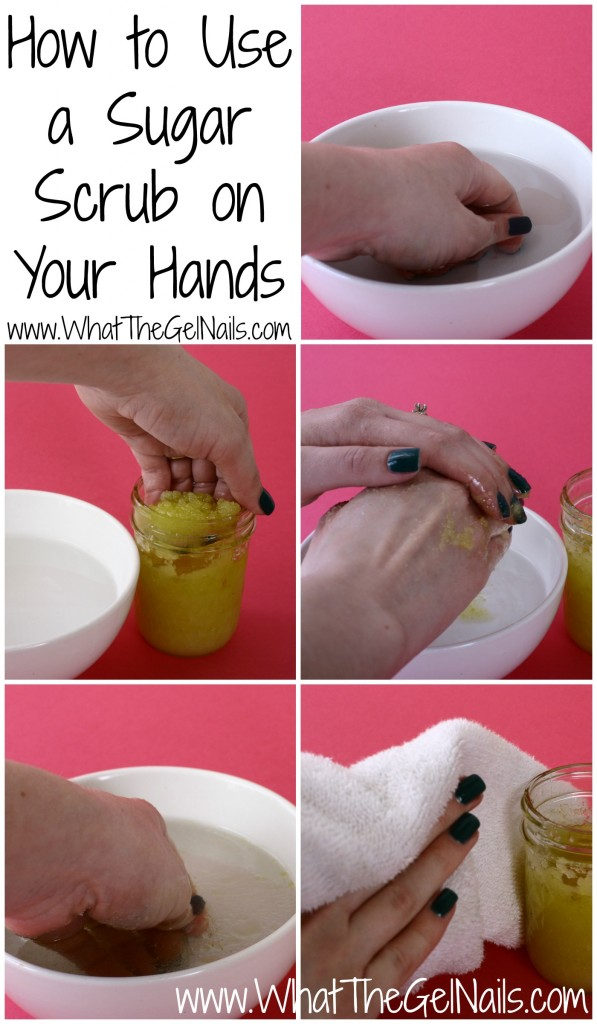 How to use a sugar scrub on your hands, plus a lemon and sugar scrub recipe.