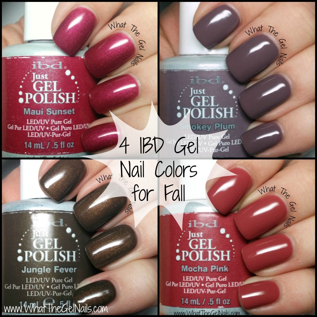 4 IBD Gel Nail Colors for Fall
