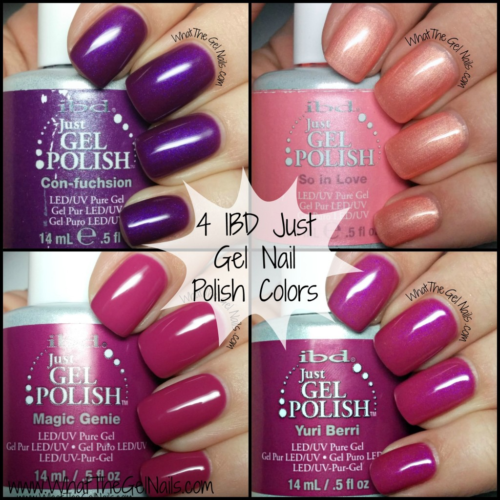 Gel Nail Polish Colors: Purple And Pink Swatches Of IBD Just Gel Nail Polish Colors