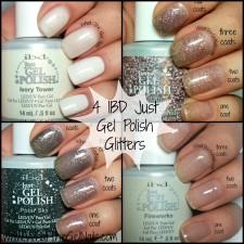 4 IBD Just Gel Polish Glitters