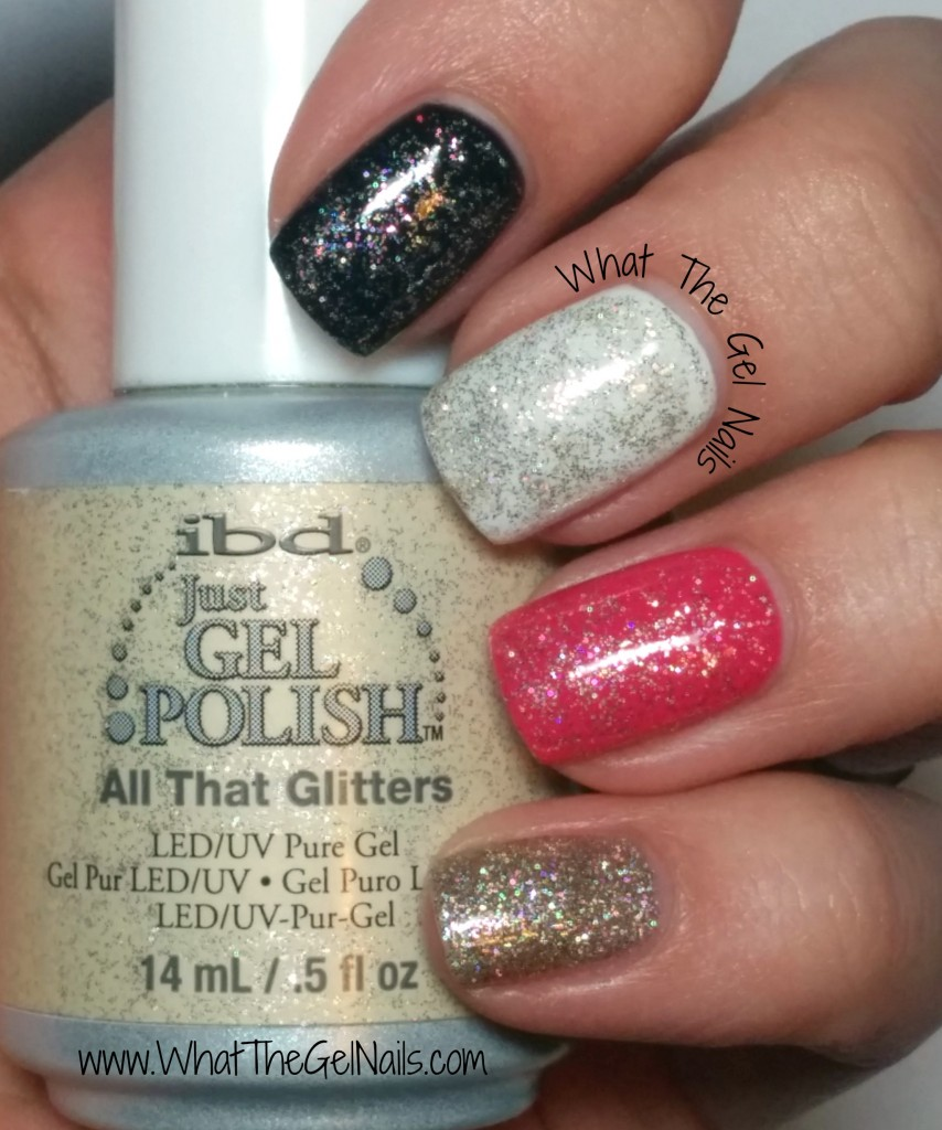 IBD All That Glitters plus more Christmas gel nail colors.