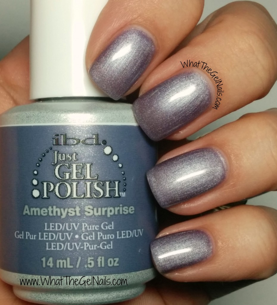 IBD Amethyst Surprise, plus more IBD Just Gel nail colors.