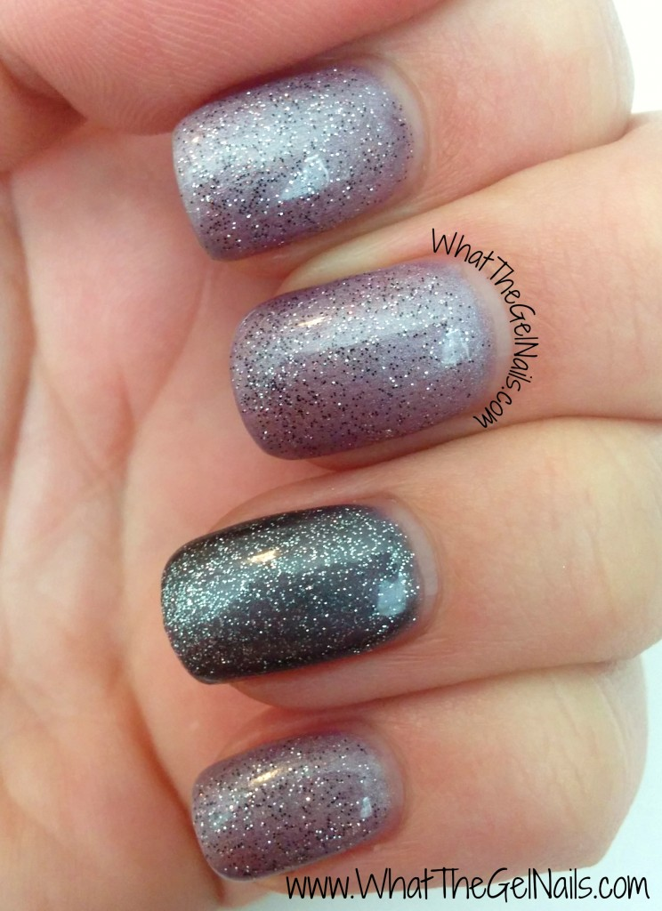 New Years Eve Manicure with Gel Polish. Has IBD Amethyst Surprise, IBD Polar Sky, and IBD Aphrodite.