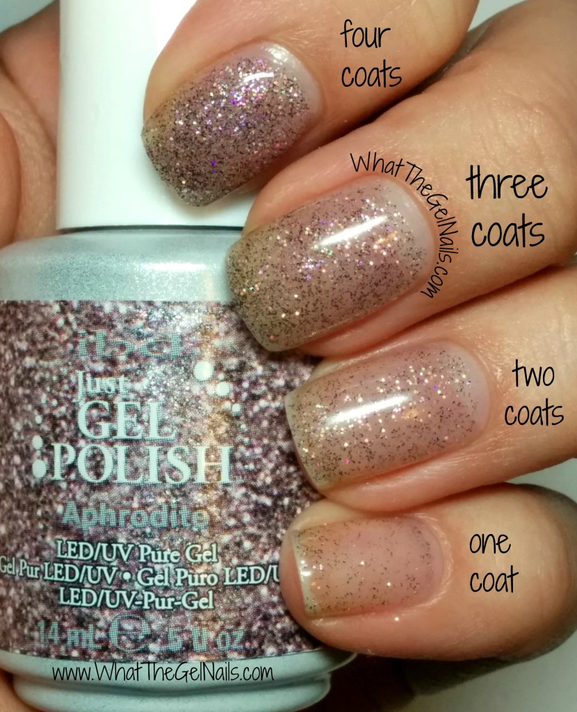 IBD Aphrodite plus more IBD Just Gel polish glitters.