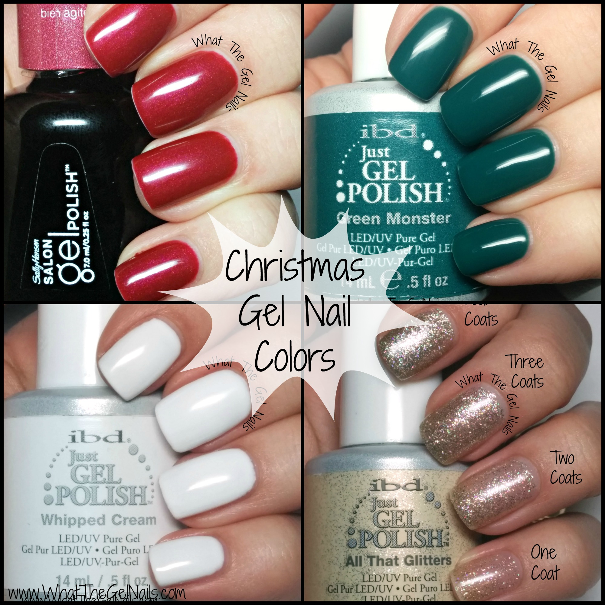 IBD Just Gel Christmas Gel Nail Colors