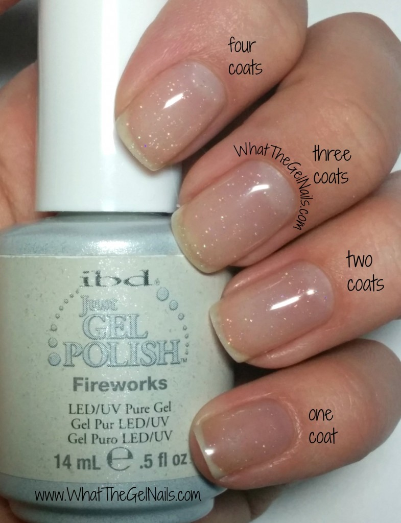 IBD Fireworks plus more IBD Just Gel polish glitters.