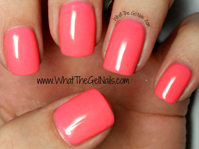 Neon Orange Pink Nail Polish - Nails Gallery