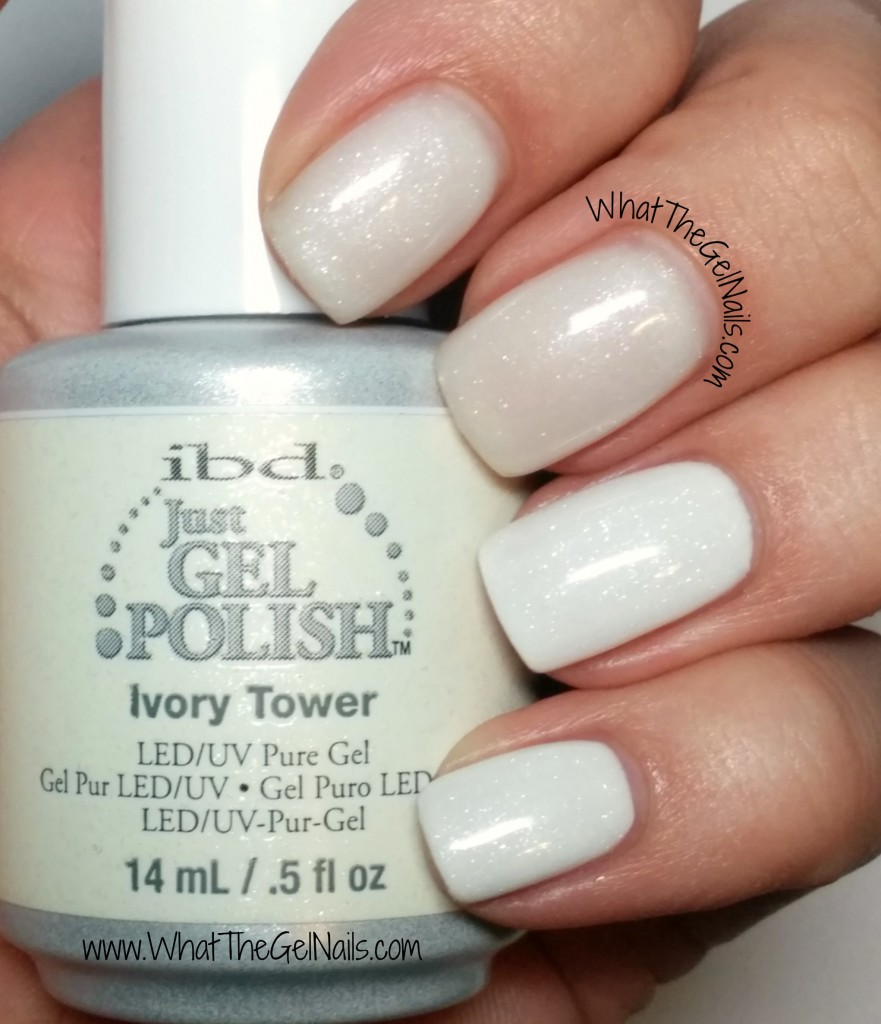 IBD Ivory Tower plus more IBD Just Gel polish glitters.