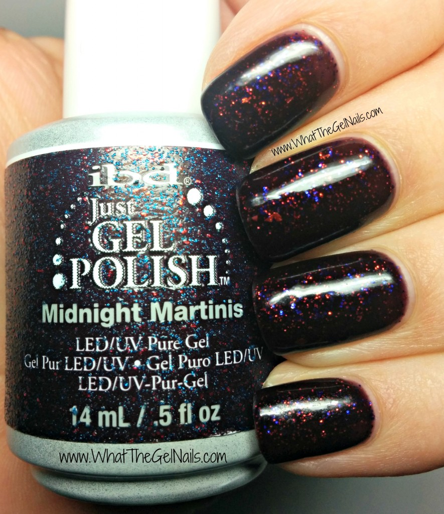 IBD Midnight Martinis plus more IBD gel polish colors for winter.