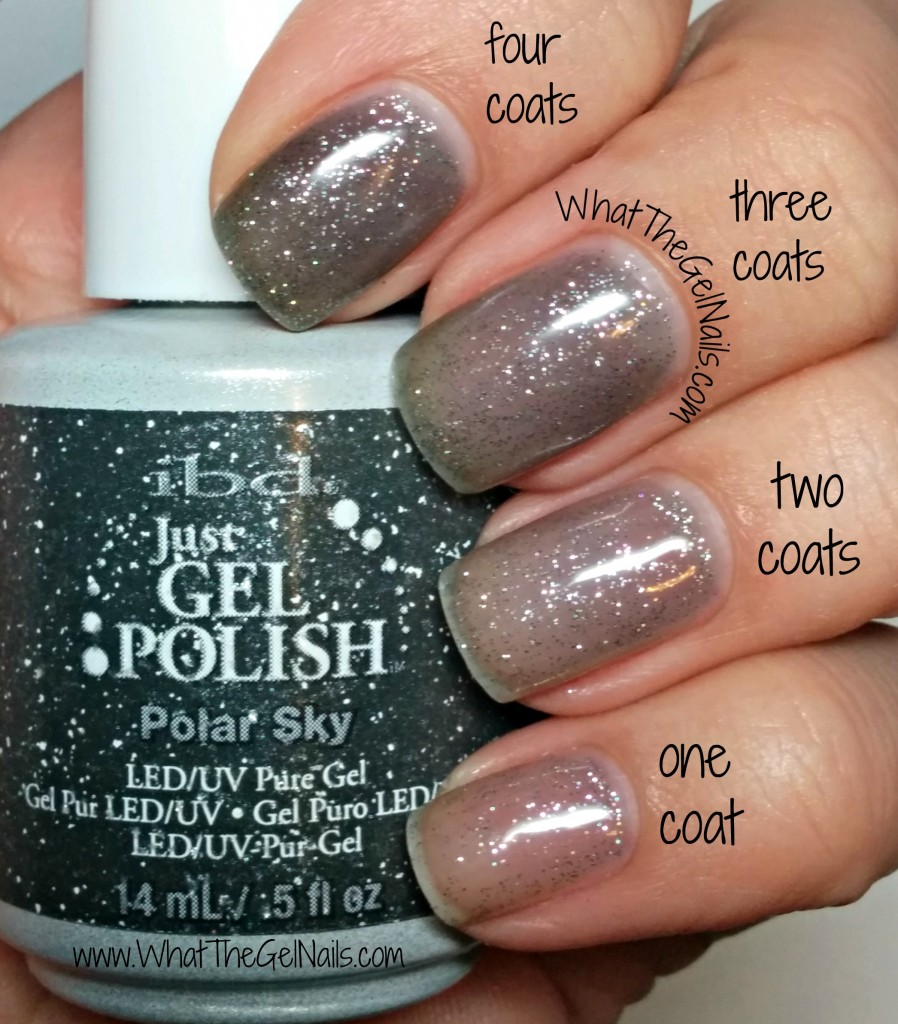 IBD Polar Sky plus more IBD Just Gel polish glitters.
