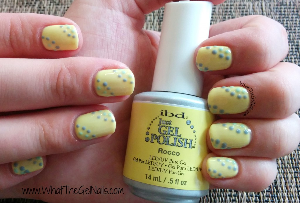Simple gel polish manicure using dotting tools. Great for spring or summer!