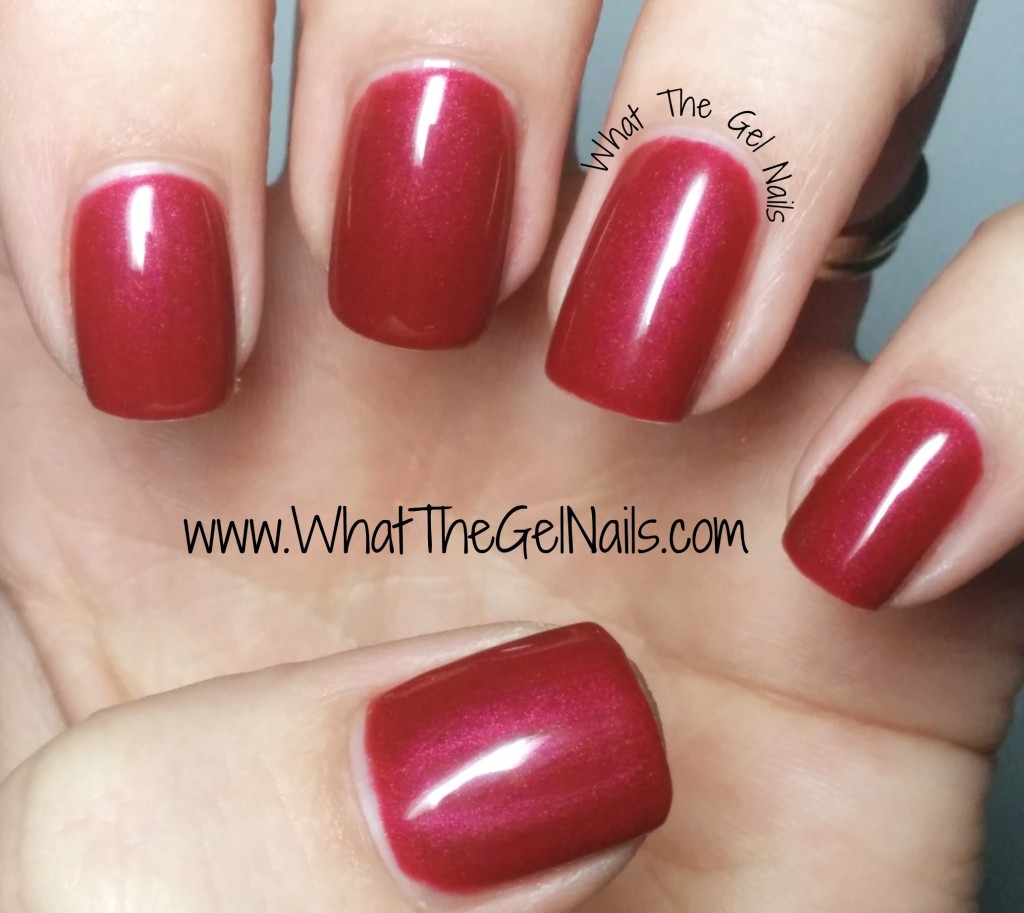 Sally Hansen salon gel polish Wine Not plus more Christmas gel nail colors.
