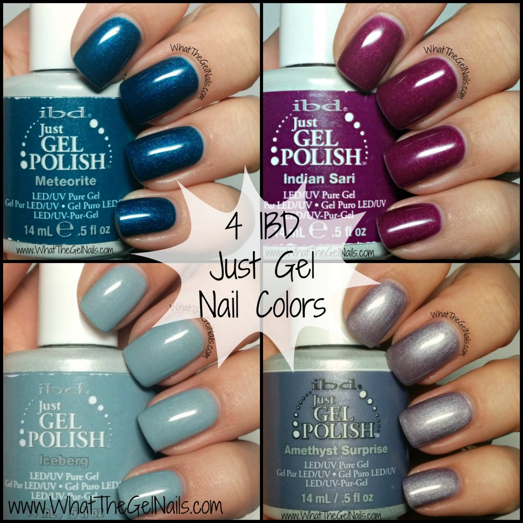 4 IBD Just Gel Nail Colors