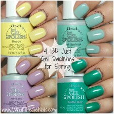 4 IBD Just Gel Swatches for Spring