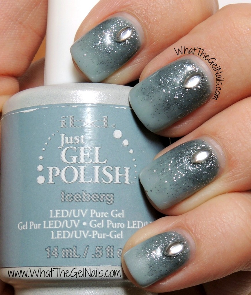 Winter Gel Nail Designs with Jewels